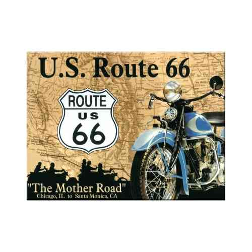Route 66 Map Magnet 6x0x8