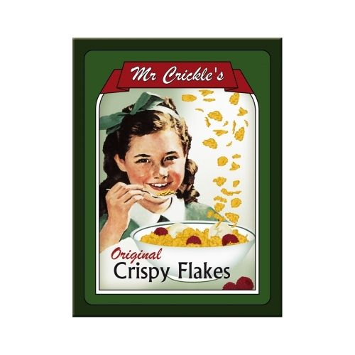 Mr. Crickles Crispy Flakes Magnet 6x0x8