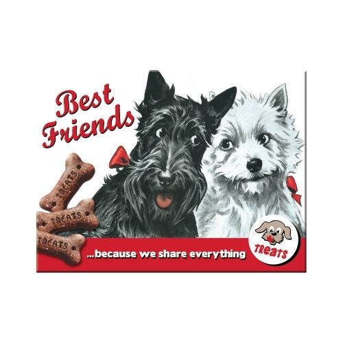 Best Friends Magnet 6x0x8