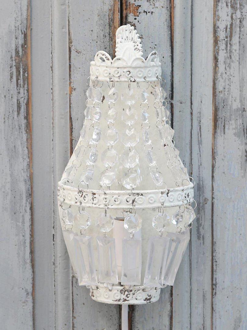 wandlampe weiss 25cm clever deko. Black Bedroom Furniture Sets. Home Design Ideas