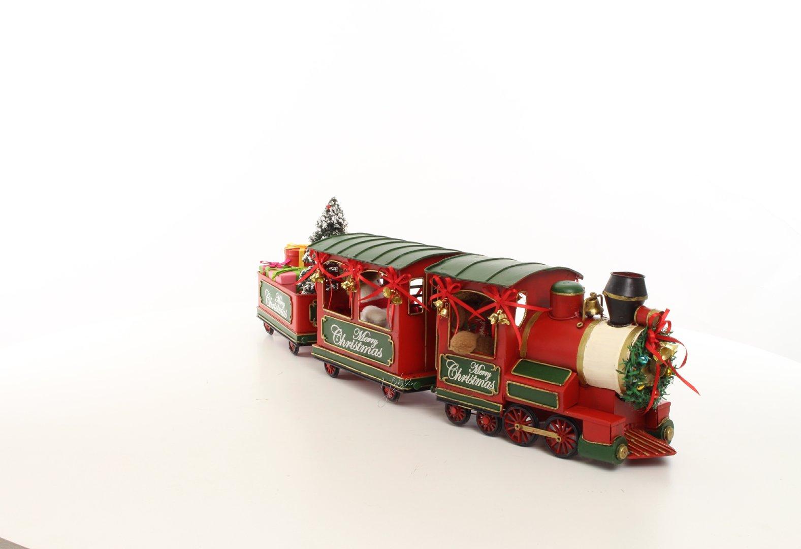 Eisenbahn Weihnachtsdeko.Eisenbahn Rot 3 Teilig Weihnachtsdeko Clever Deko